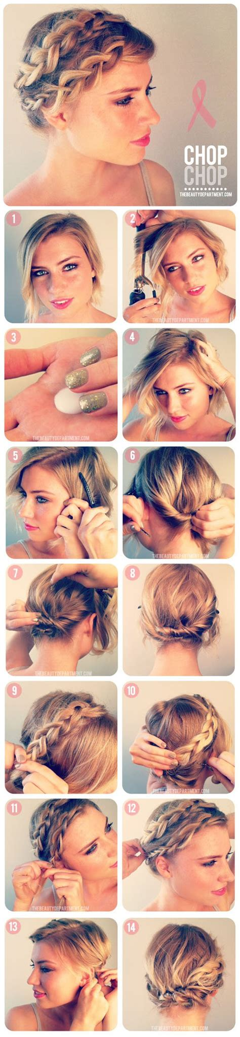 diy hairstyles with short hair 17 easy diy tutorials for glamorous and cute hairstyle