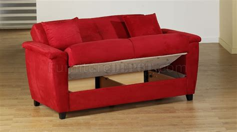 red microfiber loveseat red microfiber fabric living room storage sleeper sofa