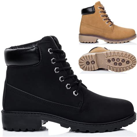 flat sole shoes womens lace up cleated sole flat combat worker walking