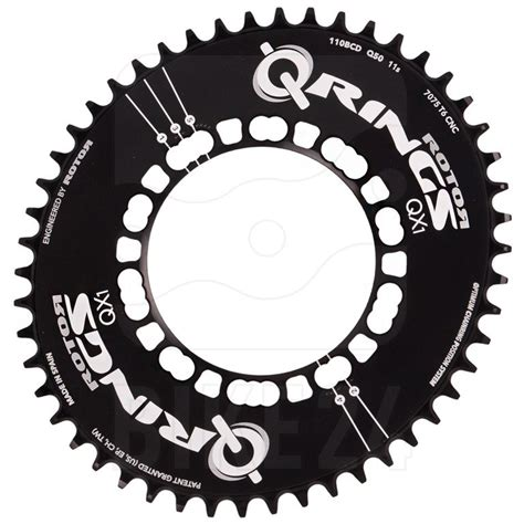 Q Ring Rotor Compact Qxl Bcd 110mm Black rotor q rings single compact 5 arm 110 bcd road chainring oval narrow wide black
