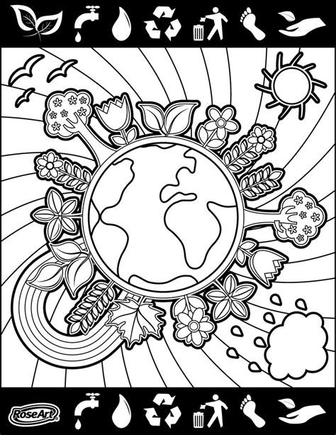 coloring pictures world environment day happy world environment day coloring pages pinterest