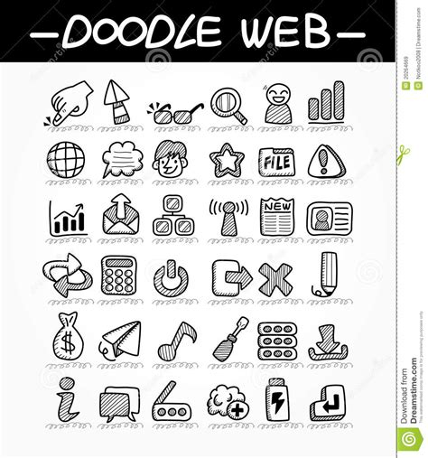 Web Doodle Icon Set Royalty Free Stock Images Image