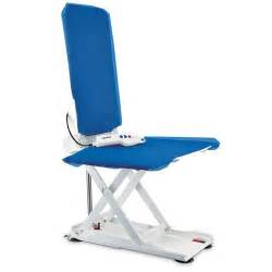 aquatec orca with reclining backrest and blue covers