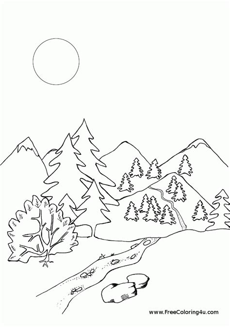 Rocky Mountains Coloring Page Coloring Home Mountains Coloring Page