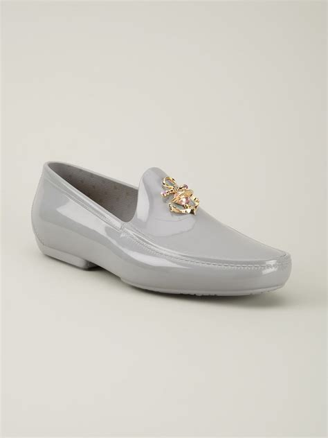 vivienne westwood loafers vivienne westwood anchor loafers in gray for grey lyst