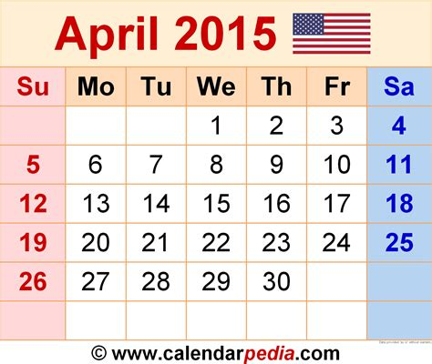 2015 April Calendar Search Results For Free Printable April 2015 Calendar