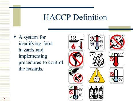 haccp d馭inition cuisine lesson 9 managing food safety ppt