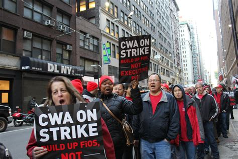 L Strike by Industriall In Solidarity With 40 000 Striking Verizon