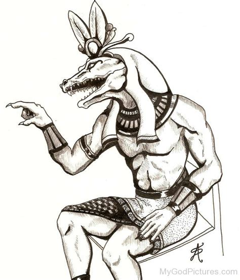 drawing of god sobek god pictures