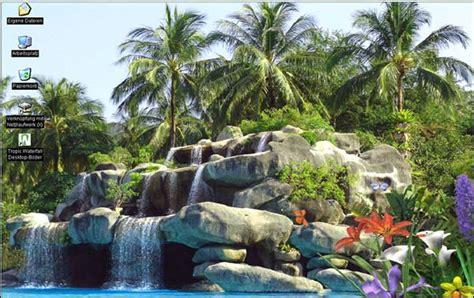 arri鑽e plan de bureau windows 7 gratuit fond d 233 cran anim 233 d une cascade tropicale t 233 l 233 charger