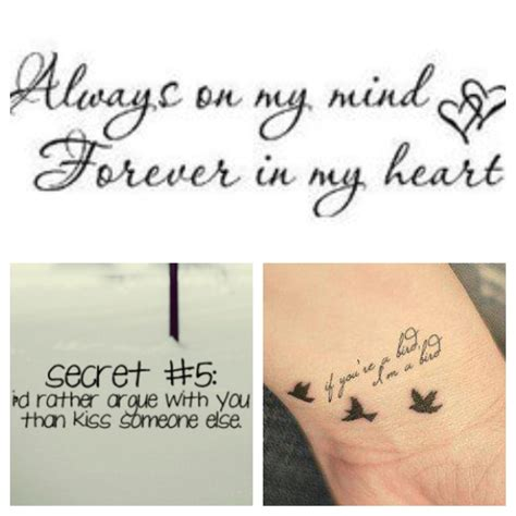 couple tattoos quotes quotesgram
