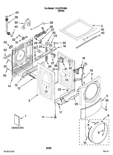 kenmore elite washer parts diagram kenmore elite residential washer parts model 11047701800