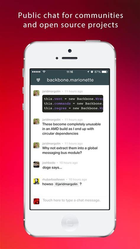 gitter chat gitter alternatives and similar software alternativeto net