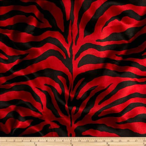 Printed Reds by Printed Charmeuse Satin Fabric Discount Designer Fabric