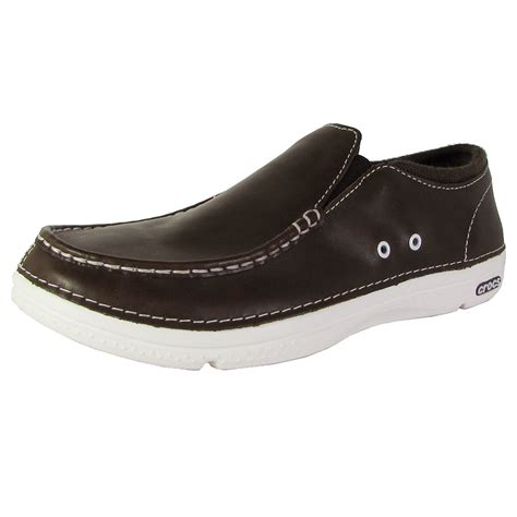 loafer shoes crocs mens thompson ii 5 low moc toe loafer shoes ebay