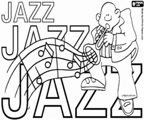 jazz coloring sheets coloring pages