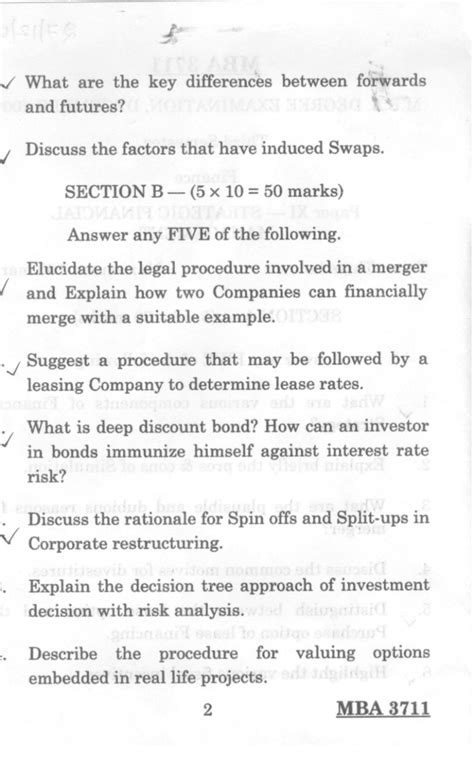 Pondicherry Mba 1st Sem Question Papers by Management Pondicherry Mba Finance Third