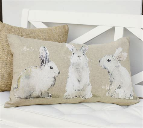 Rabbit Pillow by The Design Pottery Barn S Watercolor Bunny Pillows