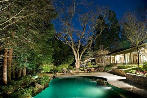 Custom Landscape Lighting With Tree Features Sestak Custom Landscape Lighting