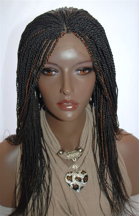 senegalese twist with brown in the front and black in the back braided lace front wig senegalese twists color 2 30 in 18