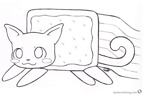 coloring pages of nyan cat nyan cat coloring pages clipart by kitty free printable