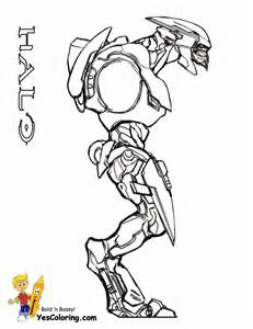 coloring pages halo 3 free sketch template