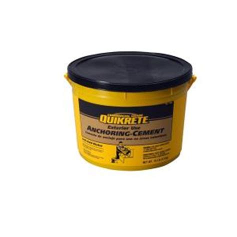 quikrete 10 lb anchoring cement 124511 the home depot
