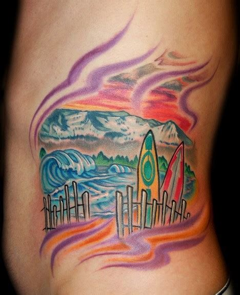 surfer tattoos surf boards by marvin silva tattoos