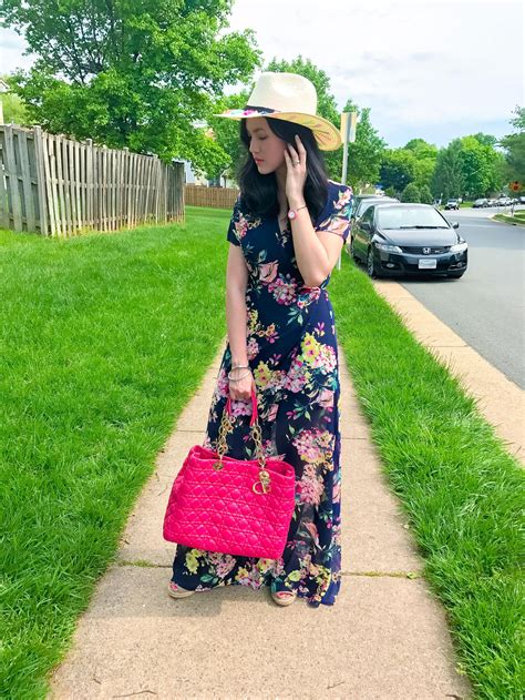 Floral Straw Hat floral maxi dress straw hat one awesome momma