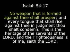 no weapon that is formed against thee shall prosper youtube