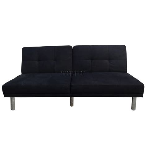 black suede sofa bed foxhunter fabric faux suede sofa bed recliner 2 seater