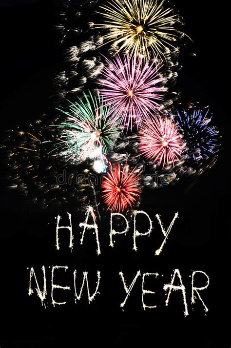 new year fireworks time happy new year fireworks stock photo image 58826753