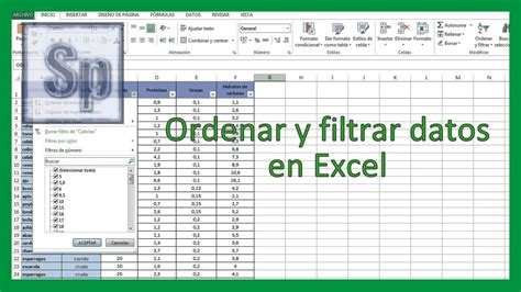 tutorial excel 2013 en español excel ordenar y filtrar datos en excel tutorial en