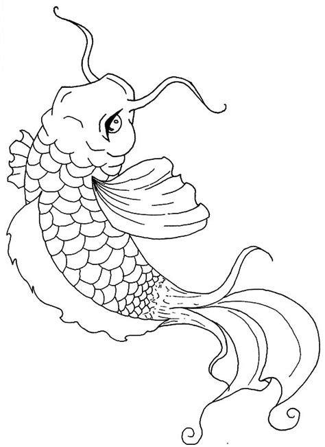 koi fish coloring pages koi pencil coloring pages