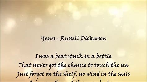 russell dickerson management yours russell dickerson lyrics youtube