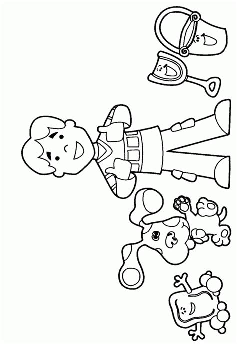 Blues Clues Coloring Pages To Print Coloring Home Blue Clues Coloring Pages