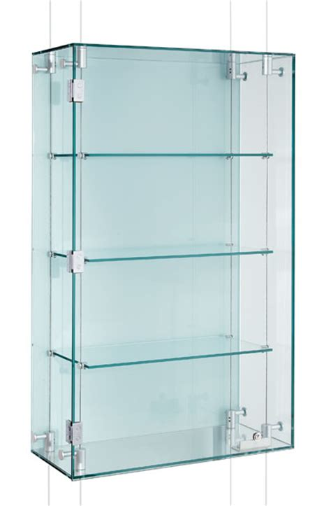 Glass Display Cabinet In Uk Suspended Glass Display Cabinets Custom Made Shopkit