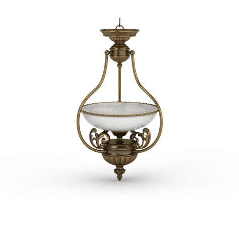 3d Light Fixtures Antique Brass Pendant Light 3d Model 3ds Max Files Free Modeling 30554 On Cadnav
