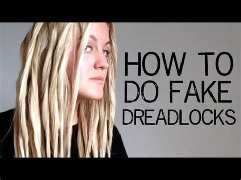 what hair can be used to do faux locs tutorial how to do fake dreadlocks youtube