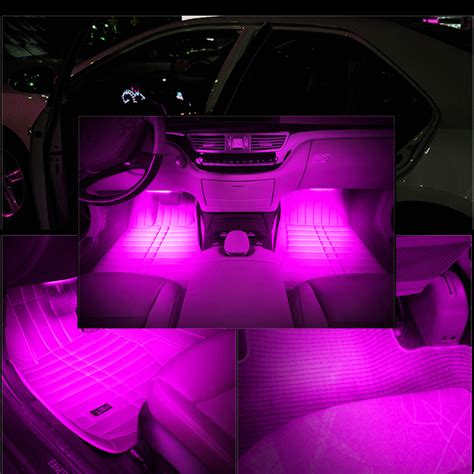 Pink Interior Lights by Pink Car Decorative Lights Charge Led Interior Floor