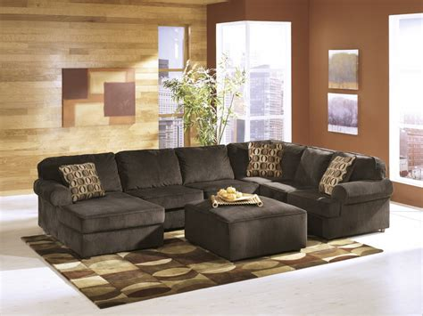 3pc sectional with chaise vista chocolate 3 pc laf chaise sectional sectionals