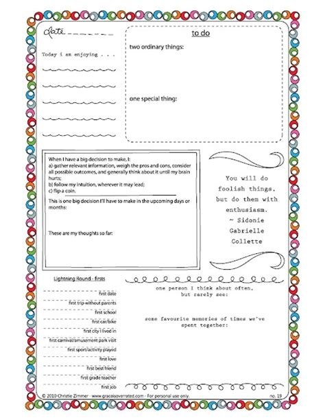 printable daily journal pages free journal templates printable and planners