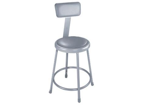 Padded Stool With Backrest by Nps Padded Metal Lab Stool With Backrest 18 Quot H Stools