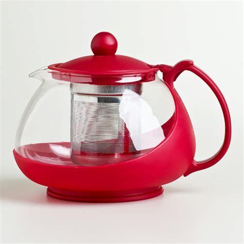 Infuser Tea Pot cost plus world market glass infuser teapot by world