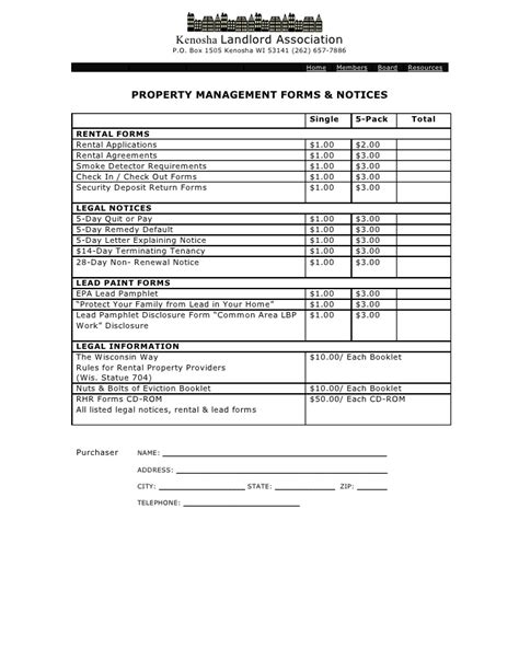 Property Management Forms Property Management Forms Templates