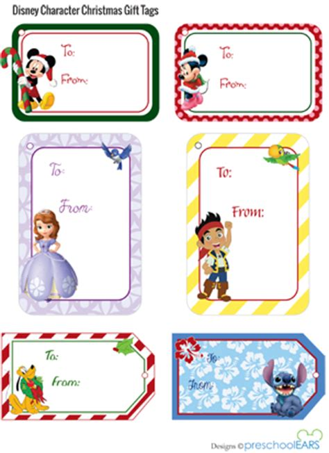5 best images of disney christmas printable gift tags