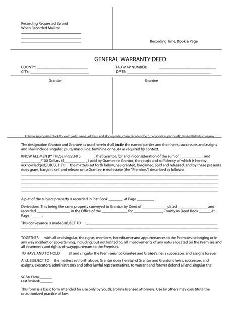 warranty deed form template 43 free warranty deed templates forms general special