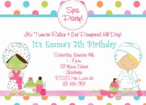 spa birthday invitation spa spa by thebutterflypress