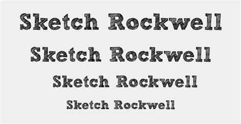 sketchbook rockwell font 30 sketched fonts for designers
