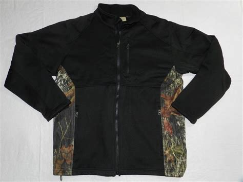 mens black and camouflage jacket tag outdoor clothing